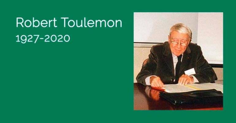In Memoriam : Robert Toulemon (1927-2020)